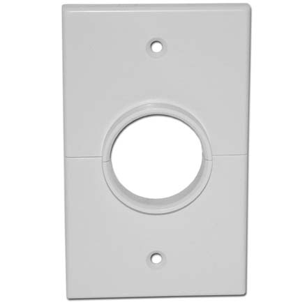 Skywalker Signature Series Split Single Gang Plate with 1.375in hole, white SKY05066WS