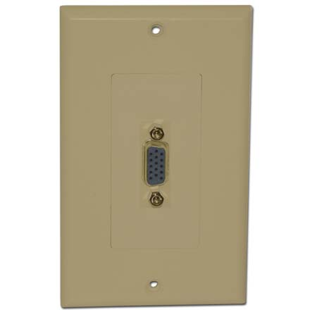 Skywalker Signature Series Wall Plate with VGA  Female to Female, Ivory SKY05077I