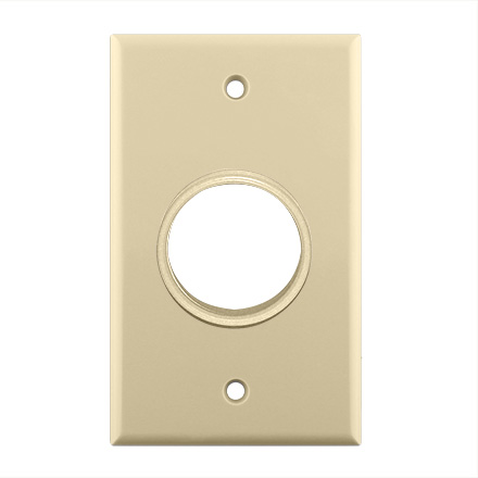 Skywalker Signature Series Single Gang Wall Plate with 1 3/8in opening, ivory SKY05078IS