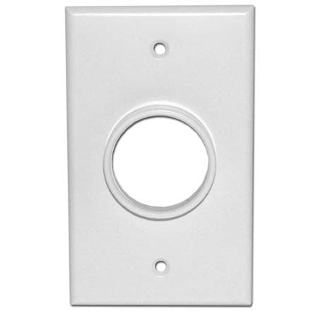 Skywalker Signature Series Single Gang Wall Plate with 1 3/8in opening, white SKY05078WS