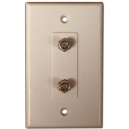 Skywalker Signature Series Wall Plate w/Dual F-81, Ivory SKY05082I