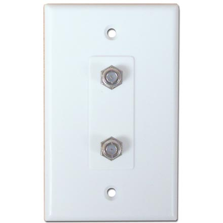 Skywalker Signature Series Wall Plate w/Dual F-81,  White SKY05082W