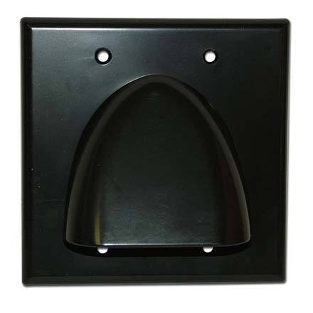 Skywalker Signature Series Double Gang Bundled Cable Wall Plate, Black SKY05087BD