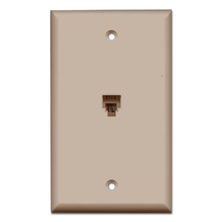 Skywalker Signature Series Flush Mount Wall Plate w/Phone, Ivory SKY05089I
