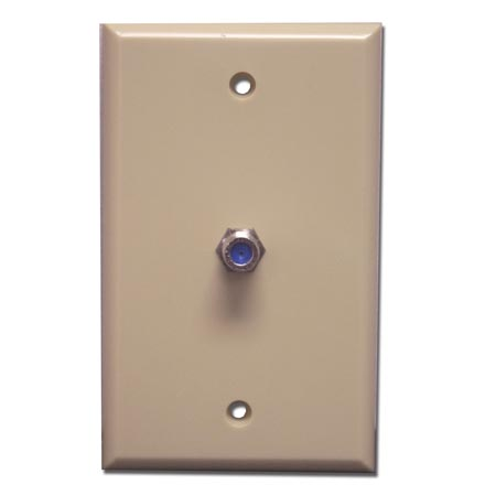 Skywalker Signature Series Wall Plate w/single 3.0ghz F-81,  Ivory SKY05091I
