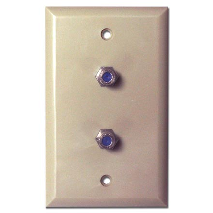 Skywalker Signature Series Wall Plate w/dual 3.0ghz F-81, Ivory SKY05092I
