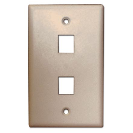 Skywalker Signature Series Keystone Wall Plate for 2 Jacks, Ivory SKY05222I