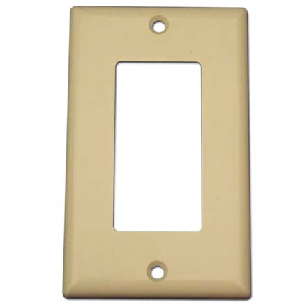 Model ASGWPIV Single Gang Keystone Decora Style Wall Plate, Ivory SKY07221I