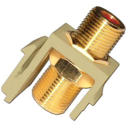 Skywalker Signature Series Keystone 3.0GHz Connector Insert Brass/Gold Plated, Almond SKY20206A