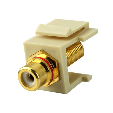 Skywalker Signature Series Keystone F Female to RCA Female Insert with Red Band (Ivory insert) SKY20208RI