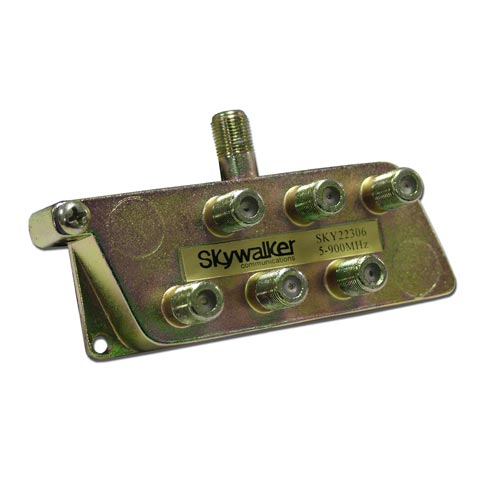 Skywalker Signature Series Splitter 5-900MHz,  6-Way SKY22306