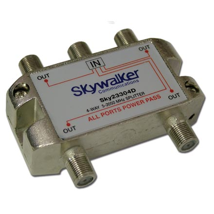 Skywalker Signature Series Splitter 5-2300MHz,  4-Way SKY23304D