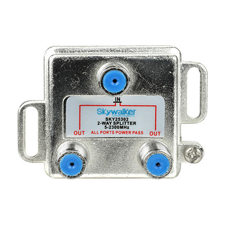 Skywalker Signature Series Vertical 2-Way 3ghz Splitter All ports power pass SKY25302