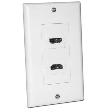 Skywalker Signature Series Dual HDMI Wall Plate with 90degree connection, white SKY6018WD