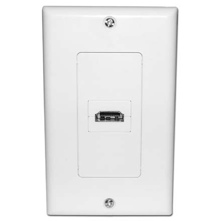 Skywalker Signature Series HDMI Wall Plate with 90degree connection, white SKY6018WS