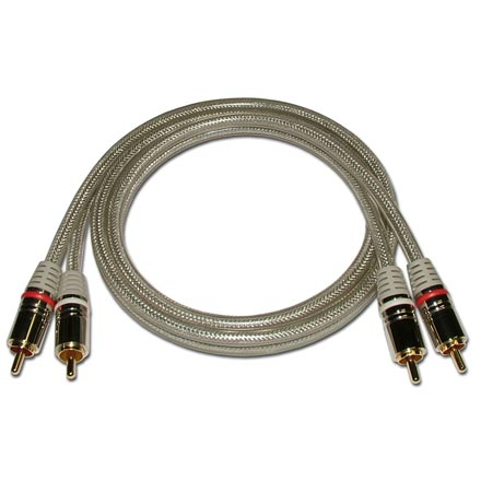 HQ Premium 6-ft Dual RCA Audio Cable SKY71126