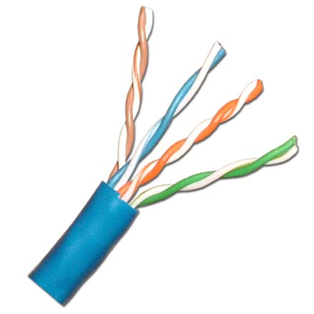 Vertical Cable Cat-6 Plenum, 23awg Solid, 1000ft Pull box, Blue VER1520