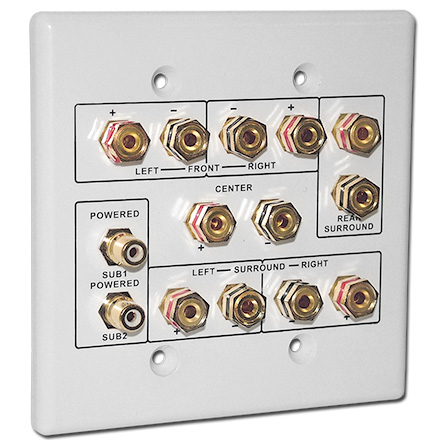 Choice Select 6.2 Home Theater Connection Wall Plate, white CHO2005