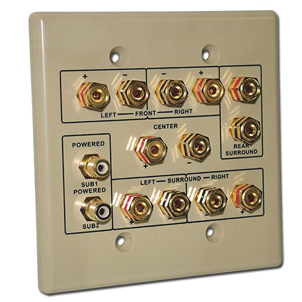 Choice Select 6.2 Home Theater Connection Wall Plate, ivory CHO2006