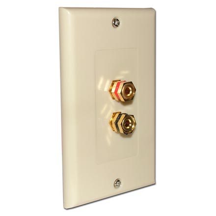 Choice Select Decora Wall Plate with 2 Binding Posts, ivory CHO2007I