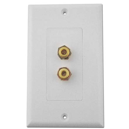 Choice Select Decora Wall Plate with 2 Binding Posts, white CHO2007W