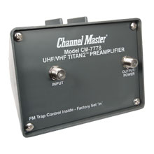 Channel Master Model 7778 Titan2 Mast Mounted Pre-Amp CHM7001