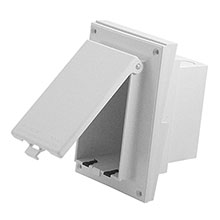 Arlington Model DBVR141W  In Box&#0153 Siding Profile Adapter Plate, white ARL1000