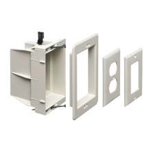 Arlington DVFR1W-1 Recessed Electrical/Outlet Mounting Box, Single Gang ARLDVFR1W