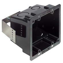 Arlington™ Double Gang Non-Metallic Box, 4 x 4in. (Black) ARLFSR404BL