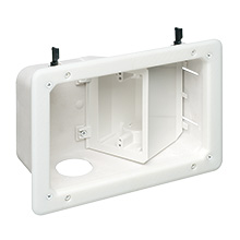 Arlington TVB712 Recessed TV Box, White ARLTVB712