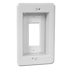Arlington Model LVU1W Single Gang Recessed Low Voltage Electrical Box
