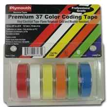 Skywalker (6) Colored Electrical Tape 1/2in x 20ft, U.L. BIS3165