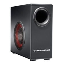"Cerwin Vega XD-8s 8"" Powered Subwoofer with Built-in Amplifier, Includes 50ft of Speaker Wire Free!"