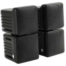 Choice Select 4in Stacked Surround Speaker, Black, 8 ohm, Pair