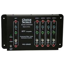 Choice Select High-Definition Component Video/Stereo Audio Distribution Amplifier 1in / 4 out CHO4055