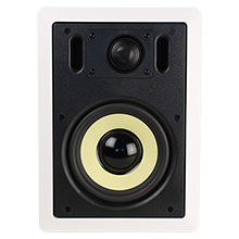 Choice Select 6.5in In-Wall Speaker w/back cover, White, pair CHO6500