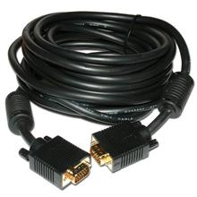 Choice Select HQ 20ft VGA Cable UL CL2 Male to Male Black CHO710920