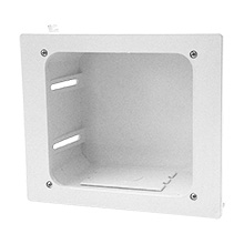 Construct Pro In-Wall Recessed Entertainment Box, white CON1001