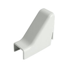 Construct Pro™ 5 pack of Drop Ceiling Raceway Adapters .87in (White)