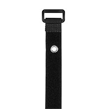 "Construct Pro™ Velcro Straps with Mounting Rivet, 7"" (qty 10) (Black) CON1053B"