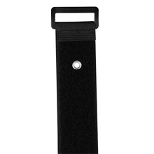 "Construct Pro™ Velcro Straps with Mounting Rivet, 16"" (qty 5) (Black) CON1055B"