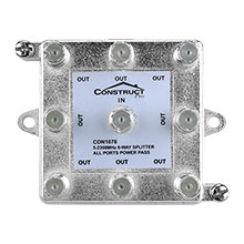 Construct Pro™ Vertical 8-Way 5-2300MHz Coax Splitter