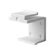 Construct Pro™ Blank Keystone Snap-in (Pack of 10 | White)