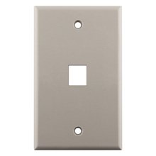Construct Pro™ 1-Port Keystone Wall Plate (Light Almond) CON3001LA
