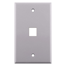 KEYSTONE WALL PLATE FOR 1 CON3001W