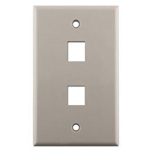 Construct Pro™ 2-Port Keystone Wall Plate (Light Almond) CON3002LA