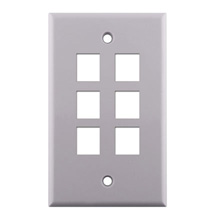 KEYSTONE WALL PLATE FOR 6 CON3006W