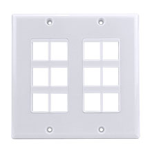 Construct Pro™ 12-Port Keystone Wall Plate (White) CON3012W