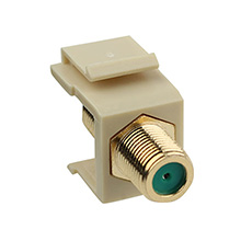 Construct Pro™ Gold-Plated 3Ghz F-Connector Keystone Insert (Ivory) CON3021I