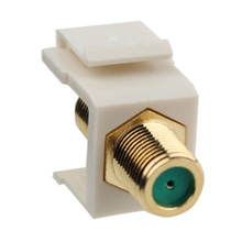 Construct Pro™Gold-Plated 3Ghz F-Connector Keystone Insert (Light Almond) CON3021LA